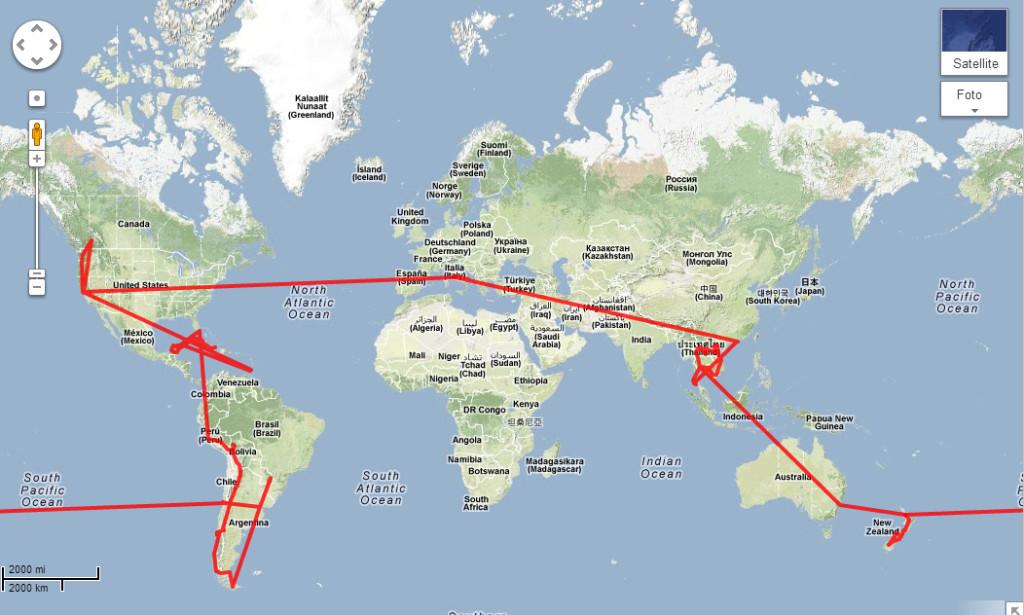 Il giro del mondo in 239 giorni